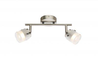 Спот Globo 56959-2 KARTHALAОжидается<br><br><br>Цветовая t, К: 3000<br>Тип цоколя: LED<br>Цвет арматуры: серебристый никель, серебристый хром<br>Количество ламп: 2<br>Ширина, мм: 260<br>Высота, мм: 165<br>MAX мощность ламп, Вт: 10
