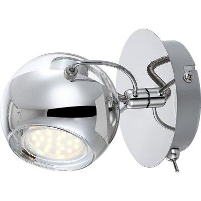 Светильник Globo 57880-1 AramidОдиночные<br>Светильники-споты – это оригинальные изделия с современным дизайном. Они позволяют не ограничивать свою фантазию при выборе освещения для интерьера. Такие модели обеспечивают достаточно качественный свет. Благодаря компактным размерам Вы можете использовать несколько спотов для одного помещения.  Интернет-магазин «Светодом» предлагает необычный светильник-спот Globo 57880-1 по привлекательной цене. Эта модель станет отличным дополнением к люстре, выполненной в том же стиле. Перед оформлением заказа изучите характеристики изделия.  Купить светильник-спот Globo 57880-1 в нашем онлайн-магазине Вы можете либо с помощью формы на сайте, либо по указанным выше телефонам. Обратите внимание, что у нас склады не только в Москве и Екатеринбурге, но и других городах России.<br><br>S освещ. до, м2: 3<br>Цветовая t, К: 3000K<br>Тип лампы: LED - светодиодная<br>Тип цоколя: GU10 LED<br>Цвет арматуры: серебристый<br>Количество ламп: 1<br>Ширина, мм: 130<br>Диаметр, мм мм: 110<br>Длина, мм: 140<br>Расстояние от стены, мм: 140<br>Высота, мм: 125<br>Оттенок (цвет): белый<br>MAX мощность ламп, Вт: 3