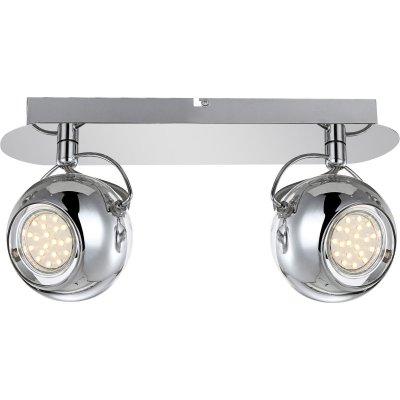 Светильник Globo 57880-2 AramidДвойные<br>Светильники-споты – это оригинальные изделия с современным дизайном. Они позволяют не ограничивать свою фантазию при выборе освещения для интерьера. Такие модели обеспечивают достаточно качественный свет. Благодаря компактным размерам Вы можете использовать несколько спотов для одного помещения. <br>Интернет-магазин «Светодом» предлагает необычный светильник-спот Globo 57880-2 по привлекательной цене. Эта модель станет отличным дополнением к люстре, выполненной в том же стиле. Перед оформлением заказа изучите характеристики изделия. <br>Купить светильник-спот Globo 57880-2 в нашем онлайн-магазине Вы можете либо с помощью формы на сайте, либо по указанным выше телефонам. Обратите внимание, что у нас склады не только в Москве и Екатеринбурге, но и других городах России.<br><br>S освещ. до, м2: 3<br>Тип лампы: LED - светодиодная<br>Тип цоколя: GU10 LED<br>Цвет арматуры: серебристый<br>Количество ламп: 2<br>Ширина, мм: 70<br>Длина, мм: 285<br>Расстояние от стены, мм: 140<br>Высота, мм: 140<br>Оттенок (цвет): белый<br>MAX мощность ламп, Вт: 3