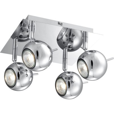 Светильник Globo 57881-4 OberonС 4 лампами<br>Светильники-споты – это оригинальные изделия с современным дизайном. Они позволяют не ограничивать свою фантазию при выборе освещения для интерьера. Такие модели обеспечивают достаточно качественный свет. Благодаря компактным размерам Вы можете использовать несколько спотов для одного помещения.  Интернет-магазин «Светодом» предлагает необычный светильник-спот Globo 57881-4 по привлекательной цене. Эта модель станет отличным дополнением к люстре, выполненной в том же стиле. Перед оформлением заказа изучите характеристики изделия.  Купить светильник-спот Globo 57881-4 в нашем онлайн-магазине Вы можете либо с помощью формы на сайте, либо по указанным выше телефонам. Обратите внимание, что мы предлагаем доставку не только по Москве и Екатеринбургу, но и всем остальным российским городам.<br><br>S освещ. до, м2: 13<br>Тип товара: Светильник поворотный спот<br>Тип лампы: галогенная / LED-светодиодная<br>Тип цоколя: GU10<br>Количество ламп: 4<br>Ширина, мм: 220<br>MAX мощность ламп, Вт: 35<br>Длина, мм: 220<br>Высота, мм: 145<br>Цвет арматуры: серебристый