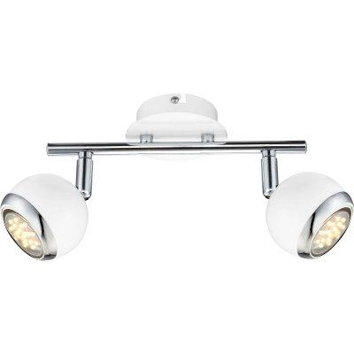 Светильник спот Globo 57882-2 OmanДвойные<br>Светильники-споты – это оригинальные изделия с современным дизайном. Они позволяют не ограничивать свою фантазию при выборе освещения для интерьера. Такие модели обеспечивают достаточно качественный свет. Благодаря компактным размерам Вы можете использовать несколько спотов для одного помещения.  Интернет-магазин «Светодом» предлагает необычный светильник-спот Globo 57882-2 по привлекательной цене. Эта модель станет отличным дополнением к люстре, выполненной в том же стиле. Перед оформлением заказа изучите характеристики изделия.  Купить светильник-спот Globo 57882-2 в нашем онлайн-магазине Вы можете либо с помощью формы на сайте, либо по указанным выше телефонам. Обратите внимание, что мы предлагаем доставку не только по Москве и Екатеринбургу, но и всем остальным российским городам.<br><br>Тип товара: Светильник поворотный спот<br>Скидка, %: 56<br>Тип лампы: галогенная / LED-светодиодная<br>Тип цоколя: GU10<br>Количество ламп: 2<br>MAX мощность ламп, Вт: 3<br>Длина, мм: 250<br>Высота, мм: 150<br>Цвет арматуры: серебристый