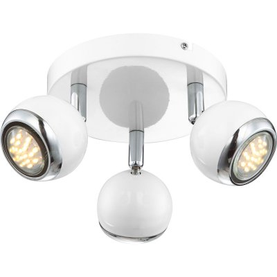 Светильник поворотный спот Globo 57882-3oТройные<br><br><br>Тип товара: Светильник поворотный спот<br>Скидка, %: 21<br>Тип цоколя: GU10<br>Количество ламп: 3<br>MAX мощность ламп, Вт: 50<br>Диаметр, мм мм: 180<br>Высота, мм: 130<br>Цвет арматуры: белый