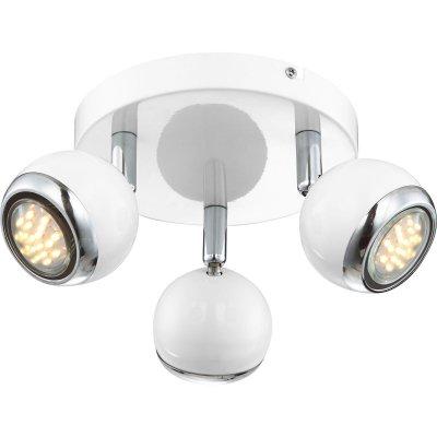 Светильник Globo 57882-3 OmanТройные<br>Светильники-споты – это оригинальные изделия с современным дизайном. Они позволяют не ограничивать свою фантазию при выборе освещения для интерьера. Такие модели обеспечивают достаточно качественный свет. Благодаря компактным размерам Вы можете использовать несколько спотов для одного помещения. <br>Интернет-магазин «Светодом» предлагает необычный светильник-спот Globo 57882-3 по привлекательной цене. Эта модель станет отличным дополнением к люстре, выполненной в том же стиле. Перед оформлением заказа изучите характеристики изделия. <br>Купить светильник-спот Globo 57882-3 в нашем онлайн-магазине Вы можете либо с помощью формы на сайте, либо по указанным выше телефонам. Обратите внимание, что мы предлагаем доставку не только по Москве и Екатеринбургу, но и всем остальным российским городам.<br><br>Тип товара: Светильник поворотный спот<br>Тип лампы: галогенная / LED-светодиодная<br>Тип цоколя: GU10<br>Количество ламп: 3<br>MAX мощность ламп, Вт: 3<br>Диаметр, мм мм: 180<br>Высота, мм: 130<br>Цвет арматуры: серебристый