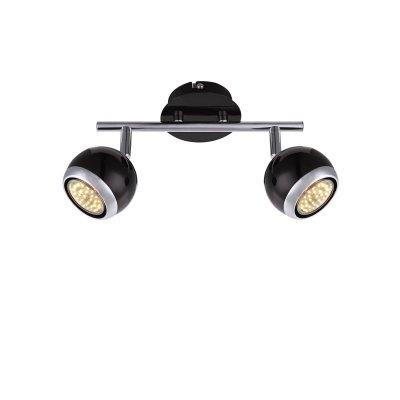 Светильник поворотный спот Globo 57884-2oДвойные<br>Светильники-споты – это оригинальные изделия с современным дизайном. Они позволяют не ограничивать свою фантазию при выборе освещения для интерьера. Такие модели обеспечивают достаточно качественный свет. Благодаря компактным размерам Вы можете использовать несколько спотов для одного помещения.  Интернет-магазин «Светодом» предлагает необычный светильник-спот Globo 57884-2O по привлекательной цене. Эта модель станет отличным дополнением к люстре, выполненной в том же стиле. Перед оформлением заказа изучите характеристики изделия.  Купить светильник-спот Globo 57884-2O в нашем онлайн-магазине Вы можете либо с помощью формы на сайте, либо по указанным выше телефонам. Обратите внимание, что мы предлагаем доставку не только по Москве и Екатеринбургу, но и всем остальным российским городам.<br><br>Тип товара: Светильник поворотный спот<br>Тип лампы: галогенная/LED<br>Тип цоколя: GU10<br>Количество ламп: 2<br>Ширина, мм: 250<br>MAX мощность ламп, Вт: 50<br>Выступ, мм: 150<br>Цвет арматуры: черный