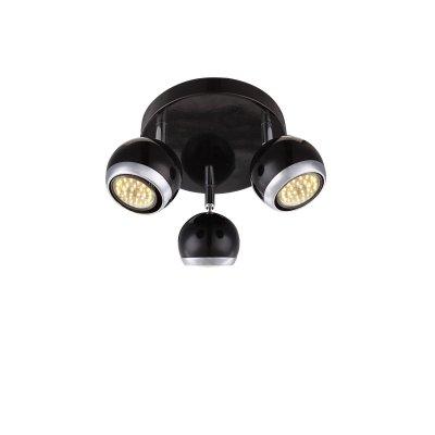 Светильник поворотный спот Globo 57884-3oТройные<br>Светильники-споты – это оригинальные изделия с современным дизайном. Они позволяют не ограничивать свою фантазию при выборе освещения для интерьера. Такие модели обеспечивают достаточно качественный свет. Благодаря компактным размерам Вы можете использовать несколько спотов для одного помещения.  Интернет-магазин «Светодом» предлагает необычный светильник-спот Globo 57884-3O по привлекательной цене. Эта модель станет отличным дополнением к люстре, выполненной в том же стиле. Перед оформлением заказа изучите характеристики изделия.  Купить светильник-спот Globo 57884-3O в нашем онлайн-магазине Вы можете либо с помощью формы на сайте, либо по указанным выше телефонам. Обратите внимание, что у нас склады не только в Москве и Екатеринбурге, но и других городах России.<br><br>S освещ. до, м2: 8<br>Тип лампы: галогенная/LED<br>Тип цоколя: GU10<br>Цвет арматуры: черный<br>Количество ламп: 3<br>Диаметр, мм мм: 180<br>Высота, мм: 130<br>MAX мощность ламп, Вт: 50