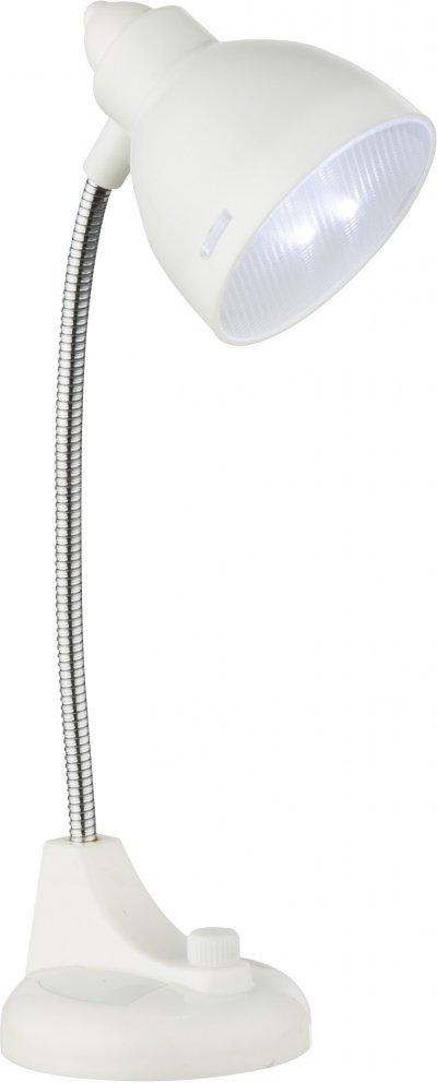 Настольная лампа Globo 58261WСовременные<br><br><br>Тип лампы: LED<br>Тип цоколя: LED<br>Высота, мм: 62<br>Цвет арматуры: белый