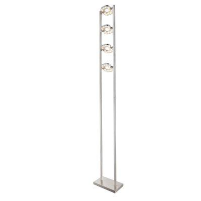 Торшер Globo 59053 LANAХай-тек<br>Торшер – это не просто функциональный предмет интерьера, позволяющий обеспечить дополнительное освещение, но и оригинальный декоративный элемент. Интернет-магазин «Светодом» предлагает стильные модели от известных производителей по доступным ценам. У нас Вы найдете и классические напольные светильники, и современные варианты.   Торшер 59053 Globo сразу же привлекает внимание благодаря своему необычному дизайну. Модель выполнена из качественных материалов, что обеспечит ее надежную и долговечную работу. Такой напольный светильник можно использовать для интерьера не только гостиной, но и спальни или кабинета.   Купить торшер 59053 Globo по выгодной стоимости Вы можете с помощью нашего сайта. У нас склады в Москве, Екатеринбурге, Санкт-Петербурге, Новосибирске и другим городам России.<br><br>Тип цоколя: LED<br>Количество ламп: 4<br>MAX мощность ламп, Вт: 5<br>Цвет арматуры: серебристый