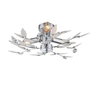 Люстра с листьями Globo 63100-3 VIDAлюстры флористика потолочные<br>Компания «Светодом» предлагает широкий ассортимент люстр от известных производителей. Представленные в нашем каталоге товары выполнены из современных материалов и обладают отличным качеством. Благодаря широкому ассортименту Вы сможете найти у нас люстру под любой интерьер. Мы предлагаем как классические варианты, так и современные модели, отличающиеся лаконичностью и простотой форм. <br>Стильная люстра Globo 63100-3 станет украшением любого дома. Эта модель от известного производителя не оставит равнодушным ценителей красивых и оригинальных предметов интерьера. Люстра Globo 63100-3 обеспечит равномерное распределение света по всей комнате. При выборе обратите внимание на характеристики, позволяющие приобрести наиболее подходящую модель. <br>Купить понравившуюся люстру по доступной цене Вы можете в интернет-магазине «Светодом».<br><br>Установка на натяжной потолок: Ограничено<br>S освещ. до, м2: 6<br>Крепление: Планка<br>Тип цоколя: E14<br>Цвет арматуры: серебристый<br>Количество ламп: 3<br>Диаметр, мм мм: 400<br>Высота, мм: 145<br>MAX мощность ламп, Вт: 40