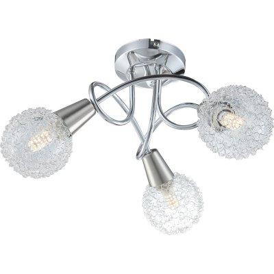 Светильник потолочный Globo 63179-3 TIMONПотолочные<br><br><br>Тип товара: Светильник потолочный<br>Тип цоколя: E14<br>Количество ламп: 3<br>MAX мощность ламп, Вт: 40<br>Диаметр, мм мм: 360<br>Высота, мм: 200<br>Цвет арматуры: матовый никель