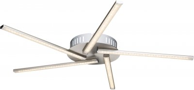 Люстра потолочная Globo 67002-17FПотолочные<br><br><br>Установка на натяжной потолок: Да<br>S освещ. до, м2: 7<br>Тип лампы: LED<br>Тип цоколя: LED<br>Цвет арматуры: хром серебристый<br>Диаметр, мм мм: 600<br>Высота, мм: 45
