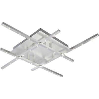 Люстра Globo 67050-32D CalibanПотолочные<br>Компания «Светодом» предлагает широкий ассортимент люстр от известных производителей. Представленные в нашем каталоге товары выполнены из современных материалов и обладают отличным качеством. Благодаря широкому ассортименту Вы сможете найти у нас люстру под любой интерьер. Мы предлагаем как классические варианты, так и современные модели, отличающиеся лаконичностью и простотой форм. <br>Стильная люстра Globo 67050-32D станет украшением любого дома. Эта модель от известного производителя не оставит равнодушным ценителей красивых и оригинальных предметов интерьера. Люстра Globo 67050-32D обеспечит равномерное распределение света по всей комнате. При выборе обратите внимание на характеристики, позволяющие приобрести наиболее подходящую модель. <br>Купить понравившуюся люстру по доступной цене Вы можете в интернет-магазине «Светодом».<br><br>Установка на натяжной потолок: Да<br>S освещ. до, м2: 12<br>Крепление: Планка<br>Тип лампы: галогенная / LED-светодиодная<br>Тип цоколя: LED<br>Количество ламп: 32<br>Ширина, мм: 650<br>MAX мощность ламп, Вт: 1<br>Длина, мм: 650<br>Высота, мм: 85<br>Цвет арматуры: серебристый