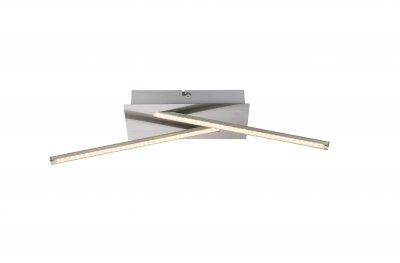 Светильник потолочный Globo 67832-12 FUEGOОжидается<br><br><br>Цветовая t, К: 3000<br>Тип цоколя: LED<br>Цвет арматуры: серебристый никель<br>Количество ламп: 1<br>Ширина, мм: 480<br>Глубина, мм: 110<br>Длина, мм: 120<br>MAX мощность ламп, Вт: 12