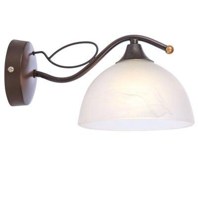 Светильник настенный Globo 68412WМодерн<br><br><br>Тип товара: Светильник настенный<br>Тип цоколя: E27<br>Количество ламп: 1<br>Ширина, мм: 180<br>MAX мощность ламп, Вт: 60<br>Высота, мм: 140<br>Цвет арматуры: коричневый