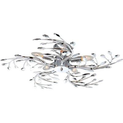 Люстра Globo 68546-5 FlashПотолочные<br>Компания «Светодом» предлагает широкий ассортимент люстр от известных производителей. Представленные в нашем каталоге товары выполнены из современных материалов и обладают отличным качеством. Благодаря широкому ассортименту Вы сможете найти у нас люстру под любой интерьер. Мы предлагаем как классические варианты, так и современные модели, отличающиеся лаконичностью и простотой форм.  Стильная люстра Globo 68546-5 станет украшением любого дома. Эта модель от известного производителя не оставит равнодушным ценителей красивых и оригинальных предметов интерьера. Люстра Globo 68546-5 обеспечит равномерное распределение света по всей комнате. При выборе обратите внимание на характеристики, позволяющие приобрести наиболее подходящую модель. Купить понравившуюся люстру по доступной цене Вы можете в интернет-магазине «Светодом». Мы предлагаем доставку не только по Москве и Екатеринбурге, но и по всей России.<br><br>Установка на натяжной потолок: Ограничено<br>S освещ. до, м2: 20<br>Крепление: Планка<br>Тип лампы: накаливания / энергосбережения / LED-светодиодная<br>Тип цоколя: E14<br>Количество ламп: 5<br>MAX мощность ламп, Вт: 40<br>Диаметр, мм мм: 650<br>Высота, мм: 160<br>Цвет арматуры: серебристый