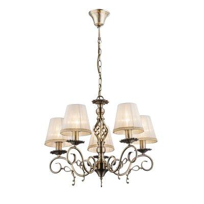 Светильник подвесной Globo 69011-5hПодвесные<br><br><br>Установка на натяжной потолок: Да<br>S освещ. до, м2: 15<br>Крепление: Крюк<br>Тип товара: Светильник подвесной<br>Тип цоколя: E14<br>Количество ламп: 5<br>MAX мощность ламп, Вт: 60<br>Диаметр, мм мм: 590<br>Высота, мм: 1000<br>Цвет арматуры: бронзовый