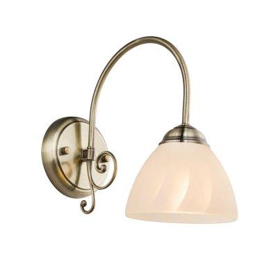 Светильник настенный Globo 69012WКлассические<br><br><br>Тип цоколя: E14<br>Цвет арматуры: бронзовый<br>Количество ламп: 1<br>Ширина, мм: 140<br>Высота, мм: 265<br>MAX мощность ламп, Вт: 60