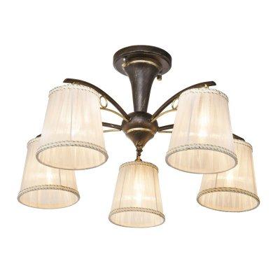Люстра потолочная Globo 69014-5D GENOVEVAПотолочные<br><br><br>S освещ. до, м2: 15<br>Тип товара: Люстра потолочная<br>Скидка, %: 34<br>Тип цоколя: E14<br>Количество ламп: 5<br>MAX мощность ламп, Вт: 60<br>Диаметр, мм мм: 570<br>Высота, мм: 310<br>Цвет арматуры: Золотой