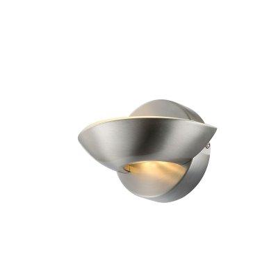 Светильник Globo 76001современные бра модерн<br><br><br>Тип цоколя: LED<br>Цвет арматуры: серебристый<br>Количество ламп: 1<br>Ширина, мм: 115<br>Длина, мм: 165<br>Высота, мм: 110<br>MAX мощность ламп, Вт: 3