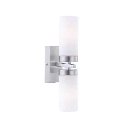 Светильник Globo 7816 Spaceбра для ванной<br>Настенно потолочный светильник Globo (Глобо) 7816 подходит как для установки в вертикальном положении - на стены, так и для установки в горизонтальном - на потолок. Для установки настенно потолочных светильников на натяжной потолок необходимо использовать светодиодные лампы LED, которые экономнее ламп Ильича (накаливания) в 10 раз, выделяют мало тепла и не дадут расплавиться Вашему потолку.<br><br>S освещ. до, м2: 5<br>Тип лампы: накаливания / энергосбережения / LED-светодиодная<br>Тип цоколя: E14<br>Цвет арматуры: серебристый<br>Количество ламп: 2<br>Ширина, мм: 360<br>Длина, мм: 310<br>Высота, мм: 105<br>MAX мощность ламп, Вт: 40