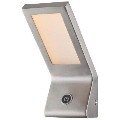 Светильник настенный бра Globo 78304Хай-тек<br><br><br>Тип цоколя: LED<br>Цвет арматуры: серебристый<br>Количество ламп: 1<br>MAX мощность ламп, Вт: 6