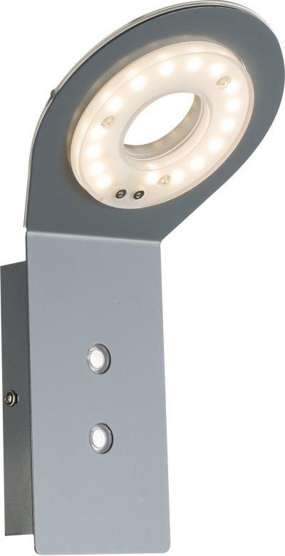 Светильник настенный Globo 78307Ожидается<br><br><br>Тип цоколя: LED<br>Цвет арматуры: серый<br>Ширина, мм: 145<br>Глубина, мм: 135<br>Высота, мм: 272