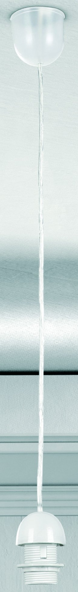 Светильник подвесной Globo A1Одиночные<br><br><br>S освещ. до, м2: 3<br>Тип лампы: Накаливания / энергосбережения / светодиодная<br>Тип цоколя: E27<br>Цвет арматуры: белый<br>Количество ламп: 1<br>Диаметр, мм мм: 70<br>Высота, мм: 1000<br>MAX мощность ламп, Вт: 60