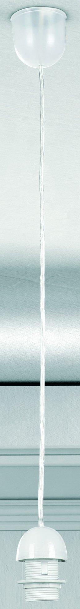 Светильник подвесной Globo A1Ожидается<br><br><br>Тип цоколя: E27<br>Диаметр, мм мм: 70<br>Высота, мм: 1000<br>Цвет арматуры: белый