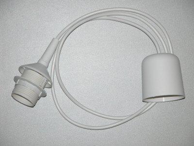 Шнур для подвеса Globo A3Выбор подвесных светильников по количеству ламп<br><br><br>S освещ. до, м2: 3<br>Тип лампы: Накаливания / энергосбережения / светодиодная<br>Тип цоколя: E27<br>Цвет арматуры: белый<br>Количество ламп: 1<br>Диаметр, мм мм: 70<br>Высота, мм: 1000<br>MAX мощность ламп, Вт: 60