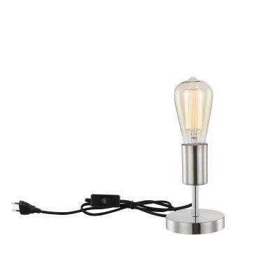 Светильник Globo T11Современные<br>Настольная лампа – это не просто источник дополнительного освещения, но и оригинальный элемент декора. Его можно установить в спальне, гостиной, кабинете и других комнатах. Интернет-магазин «Светодом» предлагает настольные лампы разных стилей по доступным ценам. Благодаря большому ассортименту Вы обязательно найдете в нашем каталоге именно ту модель, которую искали.   Настольная лампа Globo T11 – прекрасный вариант для завершения интерьера. Ее можно включить одновременно с люстрой для более яркого освещения или без нее для создания уютной атмосферы, настраивающей на отдых.   Купить настольную лампу Globo T11 Вы можете с помощью виртуальной «Корзины» или по контактным номерам, указанным на сайте.<br><br>Тип цоколя: E27<br>Цвет арматуры: серебристый никель<br>Количество ламп: 1<br>Диаметр, мм мм: 100<br>Высота, мм: 140<br>MAX мощность ламп, Вт: 60