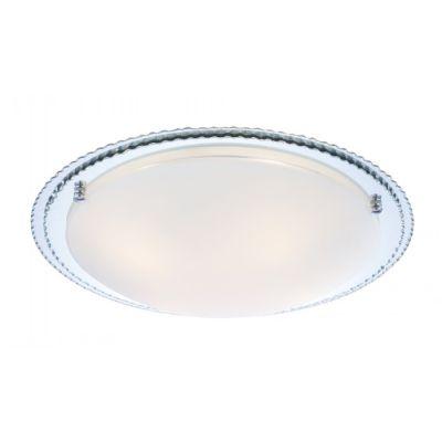Светильник Globo 48509 CambriaКруглые<br><br><br>S освещ. до, м2: 4<br>Тип лампы: накаливания / энергосбережения / LED-светодиодная<br>Тип цоколя: E27<br>Количество ламп: 1<br>Ширина, мм: 240<br>MAX мощность ламп, Вт: 60<br>Диаметр, мм мм: 240<br>Расстояние от стены, мм: 90<br>Высота, мм: 90<br>Оттенок (цвет): белый<br>Цвет арматуры: хром