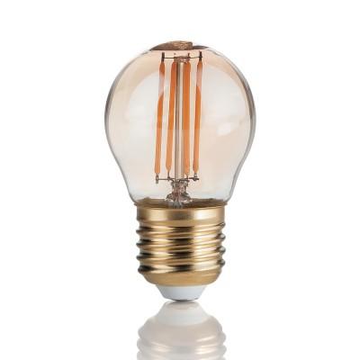 Лампочка Ideal lux LED VINTAGE E27 3.5W SFERAЛампы с цоколем Е27<br>Компания «Светодом» предлагает широкий ассортимент люстр от известных производителей. Представленные в нашем каталоге товары выполнены из современных материалов и обладают отличным качеством. Благодаря широкому ассортименту Вы сможете найти у нас люстру под любой интерьер. Мы предлагаем как классические варианты, так и современные модели, отличающиеся лаконичностью и простотой форм.<br><br>Цветовая t, К: 2200<br>Тип лампы: накаливания<br>Тип цоколя: E27<br>Диаметр, мм мм: 45<br>Высота, мм: 75<br>MAX мощность ламп, Вт: 4