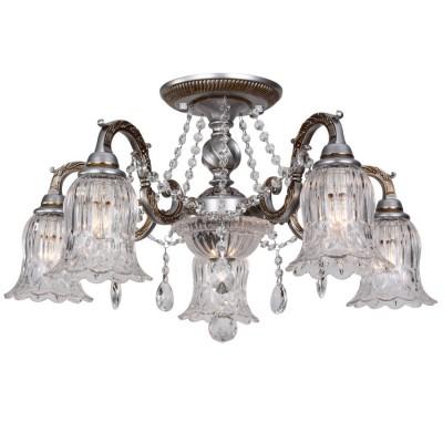 Потолочный светильник Idlamp 260/6PF WhiteplatinaПотолочные<br><br><br>Установка на натяжной потолок: Да<br>S освещ. до, м2: 13<br>Крепление: Планка<br>Тип товара: Люстра<br>Скидка, %: 32<br>Тип лампы: накаливания / энергосберегающая / светодиодная<br>Тип цоколя: E14, G9<br>Количество ламп: 5+1<br>MAX мощность ламп, Вт: 40-60<br>Диаметр, мм мм: 620<br>Высота, мм: 400<br>Поверхность арматуры: матовый<br>Цвет арматуры: серебристый<br>Общая мощность, Вт: 300