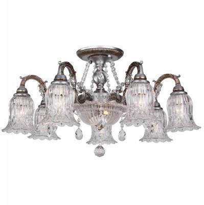 Потолочный светильник Idlamp 260/9PF WhiteplatinaПотолочные<br><br><br>Установка на натяжной потолок: Да<br>S освещ. до, м2: 20<br>Крепление: Планка<br>Тип товара: Люстра<br>Скидка, %: 32<br>Тип лампы: накаливания / энергосберегающая / светодиодная<br>Тип цоколя: E14, G9<br>Количество ламп: 7+2<br>MAX мощность ламп, Вт: 40-60<br>Диаметр, мм мм: 700<br>Высота, мм: 400<br>Поверхность арматуры: матовый<br>Цвет арматуры: серебристый<br>Общая мощность, Вт: 42