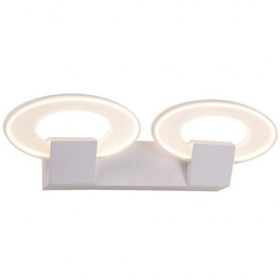 Настенный светильник Idlamp 400/2A LEDWhitechromeХай-тек<br><br><br>Крепление: Настенные<br>Тип товара: светильник настенный<br>Тип лампы: LED<br>Тип цоколя: LED<br>Количество ламп: 2<br>Ширина, мм: 140<br>MAX мощность ламп, Вт: 20<br>Длина, мм: 480<br>Высота, мм: 130<br>Поверхность арматуры: матовый<br>Цвет арматуры: Белый, хром<br>Общая мощность, Вт: 40