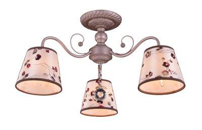 Люстра потолочная J-light 1087/3C CHOKKIпотолочные люстры кантри стиля<br><br><br>Установка на натяжной потолок: да<br>S освещ. до, м2: 7<br>Тип лампы: Накаливания / энергосбережения / светодиодная<br>Тип цоколя: E14<br>Цвет арматуры: розовый перламутр<br>Количество ламп: 3<br>Ширина, мм: 580<br>Длина, мм: 580<br>Высота, мм: 290<br>MAX мощность ламп, Вт: 40