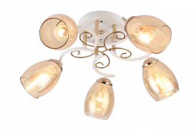 Люстра потолочная J-light 1116/5C LOSSYсовременные потолочные люстры модерн<br><br><br>Установка на натяжной потолок: да<br>S освещ. до, м2: 12<br>Тип цоколя: E27<br>Цвет арматуры: белый/золотой<br>Количество ламп: 5<br>Ширина, мм: 540<br>Длина, мм: 540<br>Высота, мм: 215<br>MAX мощность ламп, Вт: 40
