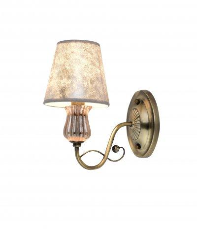 Светильник настенный J-light 1191/1W JULIAсовременные бра модерн<br><br><br>S освещ. до, м2: 3<br>Крепление: планка<br>Тип цоколя: E14<br>Цвет арматуры: бронзовый<br>Количество ламп: 1<br>Ширина, мм: 140<br>Длина, мм: 235<br>Высота, мм: 300<br>MAX мощность ламп, Вт: 60