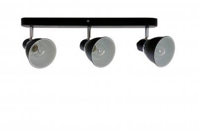 Спот J-light 1225/3A OTESSтройные споты<br><br><br>S освещ. до, м2: 9<br>Крепление: планка<br>Тип цоколя: E14<br>Цвет арматуры: черный/серебристый хром<br>Количество ламп: 3<br>Ширина, мм: 115<br>Длина, мм: 450<br>Высота, мм: 140<br>MAX мощность ламп, Вт: 60