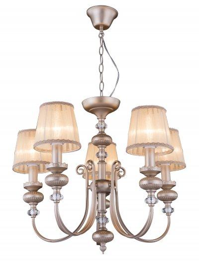 Люстра подвесная J-light 1426/5 DEBORAлюстры подвесные классические<br><br><br>Установка на натяжной потолок: да<br>S освещ. до, м2: 14<br>Тип лампы: Накаливания / энергосбережения / светодиодная<br>Тип цоколя: E14<br>Цвет арматуры: перламутр<br>Количество ламп: 6<br>Ширина, мм: 630<br>Высота полная, мм: 900<br>Длина, мм: 630<br>Высота, мм: 650<br>MAX мощность ламп, Вт: 40