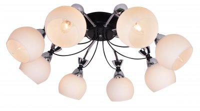 Люстра потолочная J-light 5008/8C PIZAсовременные потолочные люстры модерн<br><br><br>Установка на натяжной потолок: да<br>S освещ. до, м2: 19<br>Тип лампы: Накаливания / энергосбережения / светодиодная<br>Тип цоколя: E14<br>Цвет арматуры: черный/серебристый хром<br>Количество ламп: 8<br>Диаметр, мм мм: 640<br>Высота, мм: 320<br>Поверхность арматуры: глянцевая<br>Оттенок (цвет): черный<br>MAX мощность ламп, Вт: 40