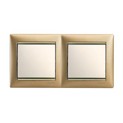 Legrand Valena Матовое золото Рамка 2-ая 770302Цветные<br><br><br>Оттенок (цвет): золотой