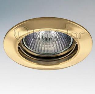 Lightstar LEGA 11012 СветильникКруглые<br>Встраиваемые светильники – популярное осветительное оборудование, которое можно использовать в качестве основного источника или в дополнение к люстре. Они позволяют создать нужную атмосферу атмосферу и привнести в интерьер уют и комфорт.   Интернет-магазин «Светодом» предлагает стильный встраиваемый светильник Lightstar 11012. Данная модель достаточно универсальна, поэтому подойдет практически под любой интерьер. Перед покупкой не забудьте ознакомиться с техническими параметрами, чтобы узнать тип цоколя, площадь освещения и другие важные характеристики.   Приобрести встраиваемый светильник Lightstar 11012 в нашем онлайн-магазине Вы можете либо с помощью «Корзины», либо по контактным номерам. Мы развозим заказы по Москве, Екатеринбургу и остальным российским городам.<br><br>Тип лампы: галогенная/LED<br>Тип цоколя: MR16 / gu5.3 / GU10<br>Количество ламп: 1<br>MAX мощность ламп, Вт: 50<br>Размеры: Диаметр  врезного  отверстия<br>Цвет арматуры: Золотой