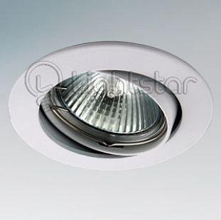 Lightstar LEGA 11020 СветильникКруглые<br>Встраиваемые светильники – популярное осветительное оборудование, которое можно использовать в качестве основного источника или в дополнение к люстре. Они позволяют создать нужную атмосферу атмосферу и привнести в интерьер уют и комфорт.   Интернет-магазин «Светодом» предлагает стильный встраиваемый светильник Lightstar 11020. Данная модель достаточно универсальна, поэтому подойдет практически под любой интерьер. Перед покупкой не забудьте ознакомиться с техническими параметрами, чтобы узнать тип цоколя, площадь освещения и другие важные характеристики.   Приобрести встраиваемый светильник Lightstar 11020 в нашем онлайн-магазине Вы можете либо с помощью «Корзины», либо по контактным номерам. Мы развозим заказы по Москве, Екатеринбургу и остальным российским городам.<br><br>Тип лампы: галогенная/LED<br>Тип цоколя: MR16 / gu5.3 / GU10<br>Цвет арматуры: белый<br>Количество ламп: 1<br>Диаметр, мм мм: 85<br>Размеры: Диаметр  врезного  отверстия<br>Диаметр врезного отверстия, мм: 75<br>Высота, мм: 5<br>MAX мощность ламп, Вт: 50