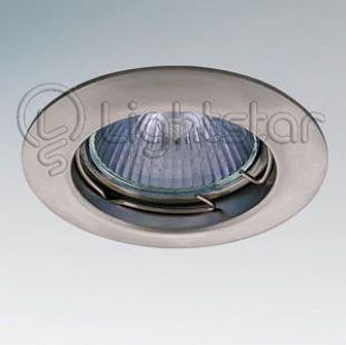 Lightstar LEGA 11049 СветильникКруглые<br>Встраиваемые светильники – популярное осветительное оборудование, которое можно использовать в качестве основного источника или в дополнение к люстре. Они позволяют создать нужную атмосферу атмосферу и привнести в интерьер уют и комфорт.   Интернет-магазин «Светодом» предлагает стильный встраиваемый светильник Lightstar 11049. Данная модель достаточно универсальна, поэтому подойдет практически под любой интерьер. Перед покупкой не забудьте ознакомиться с техническими параметрами, чтобы узнать тип цоколя, площадь освещения и другие важные характеристики.   Приобрести встраиваемый светильник Lightstar 11049 в нашем онлайн-магазине Вы можете либо с помощью «Корзины», либо по контактным номерам. Мы развозим заказы по Москве, Екатеринбургу и остальным российским городам.<br><br>Тип лампы: галогенная/LED<br>Тип цоколя: 12В/220В MR11 GU4 либо 220В HP11 GU10<br>Количество ламп: 1<br>MAX мощность ламп, Вт: 50<br>Размеры: Диаметр  врезного  отверстия<br>Цвет арматуры: серебристый