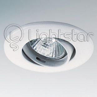 Светильник Lightstar 11050 LEGAТочечные светильники круглые<br>Встраиваемые светильники – популярное осветительное оборудование, которое можно использовать в качестве основного источника или в дополнение к люстре. Они позволяют создать нужную атмосферу атмосферу и привнести в интерьер уют и комфорт.   Интернет-магазин «Светодом» предлагает стильный встраиваемый светильник Lightstar 11050. Данная модель достаточно универсальна, поэтому подойдет практически под любой интерьер. Перед покупкой не забудьте ознакомиться с техническими параметрами, чтобы узнать тип цоколя, площадь освещения и другие важные характеристики.   Приобрести встраиваемый светильник Lightstar 11050 в нашем онлайн-магазине Вы можете либо с помощью «Корзины», либо по контактным номерам. Мы развозим заказы по Москве, Екатеринбургу и остальным российским городам.<br><br>Тип лампы: галогенная/LED<br>Тип цоколя: 12В/220В MR11 GU4 либо 220В HP11 GU10<br>Цвет арматуры: белый<br>Количество ламп: 1<br>Размеры: Диаметр  врезного  отверстия<br>MAX мощность ламп, Вт: 50