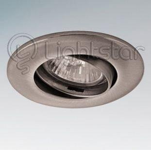 Lightstar LEGA 11055 СветильникКруглые<br>Встраиваемые светильники – популярное осветительное оборудование, которое можно использовать в качестве основного источника или в дополнение к люстре. Они позволяют создать нужную атмосферу атмосферу и привнести в интерьер уют и комфорт.   Интернет-магазин «Светодом» предлагает стильный встраиваемый светильник Lightstar 11055. Данная модель достаточно универсальна, поэтому подойдет практически под любой интерьер. Перед покупкой не забудьте ознакомиться с техническими параметрами, чтобы узнать тип цоколя, площадь освещения и другие важные характеристики.   Приобрести встраиваемый светильник Lightstar 11055 в нашем онлайн-магазине Вы можете либо с помощью «Корзины», либо по контактным номерам. Мы развозим заказы по Москве, Екатеринбургу и остальным российским городам.<br><br>Тип цоколя: 12В/220В MR11 GU4 либо 220В HP11 GU10<br>Количество ламп: 1<br>MAX мощность ламп, Вт: 50<br>Размеры: Диаметр  врезного  отверстия<br>Цвет арматуры: серебристый