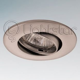 Светильник Lightstar 11059 LEGAТочечные светильники круглые<br>Встраиваемые светильники – популярное осветительное оборудование, которое можно использовать в качестве основного источника или в дополнение к люстре. Они позволяют создать нужную атмосферу атмосферу и привнести в интерьер уют и комфорт.   Интернет-магазин «Светодом» предлагает стильный встраиваемый светильник Lightstar 11059. Данная модель достаточно универсальна, поэтому подойдет практически под любой интерьер. Перед покупкой не забудьте ознакомиться с техническими параметрами, чтобы узнать тип цоколя, площадь освещения и другие важные характеристики.   Приобрести встраиваемый светильник Lightstar 11059 в нашем онлайн-магазине Вы можете либо с помощью «Корзины», либо по контактным номерам. Мы развозим заказы по Москве, Екатеринбургу и остальным российским городам.<br><br>Тип цоколя: 12В/220В MR11 GU4 либо 220В HP11 GU10<br>Цвет арматуры: серебристый<br>Количество ламп: 1<br>Размеры: Диаметр  врезного  отверстия<br>MAX мощность ламп, Вт: 50