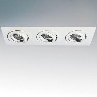 Lightstar SINGO 11613 СветильникДекоративные<br>Встраиваемые светильники – популярное осветительное оборудование, которое можно использовать в качестве основного источника или в дополнение к люстре. Они позволяют создать нужную атмосферу атмосферу и привнести в интерьер уют и комфорт.   Интернет-магазин «Светодом» предлагает стильный встраиваемый светильник Lightstar 11613. Данная модель достаточно универсальна, поэтому подойдет практически под любой интерьер. Перед покупкой не забудьте ознакомиться с техническими параметрами, чтобы узнать тип цоколя, площадь освещения и другие важные характеристики.   Приобрести встраиваемый светильник Lightstar 11613 в нашем онлайн-магазине Вы можете либо с помощью «Корзины», либо по контактным номерам. Мы доставляем заказы по Москве, Екатеринбургу и остальным российским городам.<br><br>Тип цоколя: MR16 / G5,3 / GU10<br>Количество ламп: 3<br>MAX мощность ламп, Вт: 50<br>Размеры: Ширина встраиваемой части 85x255 Высота встраиваемой части 60 D 100x280 H 5<br>Цвет арматуры: белый
