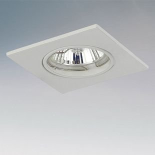 Lightstar LEGA16 11930 СветильникКвадратные<br><br><br>Тип товара: Светильник<br>Скидка, %: 5<br>Тип лампы: галогенная/LED<br>Тип цоколя: GU10/GZ10 12V/220V<br>Количество ламп: 1<br>MAX мощность ламп, Вт: 50<br>Размеры: H 3 Высота встраиваемой части 60 Диаметр врезного отверстия  75 W 85x85<br>Цвет арматуры: белый