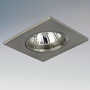 Lightstar LEGA16 11935 СветильникКвадратные<br>Встраиваемые светильники – популярное осветительное оборудование, которое можно использовать в качестве основного источника или в дополнение к люстре. Они позволяют создать нужную атмосферу атмосферу и привнести в интерьер уют и комфорт.   Интернет-магазин «Светодом» предлагает стильный встраиваемый светильник Lightstar 11935. Данная модель достаточно универсальна, поэтому подойдет практически под любой интерьер. Перед покупкой не забудьте ознакомиться с техническими параметрами, чтобы узнать тип цоколя, площадь освещения и другие важные характеристики.   Приобрести встраиваемый светильник Lightstar 11935 в нашем онлайн-магазине Вы можете либо с помощью «Корзины», либо по контактным номерам. Мы развозим заказы по Москве, Екатеринбургу и остальным российским городам.<br><br>Тип лампы: галогенная/LED<br>Тип цоколя: GU10/GZ10<br>Количество ламп: 1<br>MAX мощность ламп, Вт: 50<br>Размеры: H 3 Высота встраиваемой части 60 Диаметр врезного отверстия  75 W 85x85<br>Цвет арматуры: серебристый